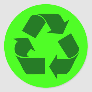 recycle classic round sticker