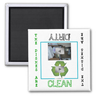 Recycle clean dirty Dishwasher Magnet