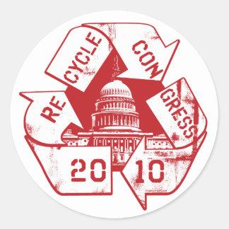 Recycle Congress Anti-Incumbent Gear Classic Round Sticker