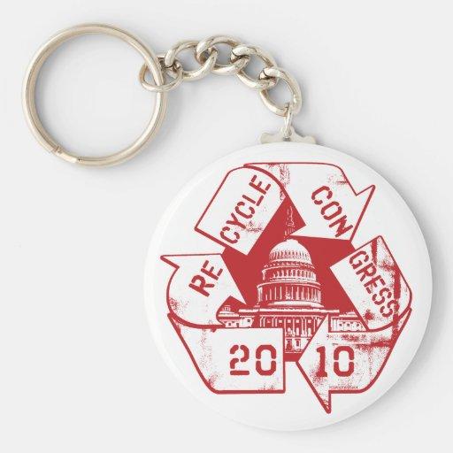 Recycle Congress Anti-Incumbent Gear Keychain