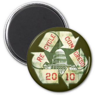Recycle Congress Anti-Incumbent Gear Magnet