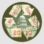 Recycle Congress Anti-Incumbent Gear Stickers