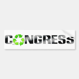 Recycle Congress Bumper Stickers
