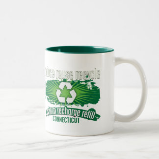 Recycle Connecticut Two-Tone Coffee Mug