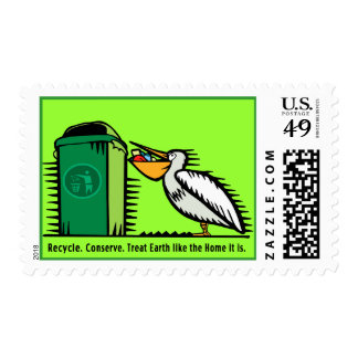 """""""Recycle, Conserve""""  Art Stamp"""
