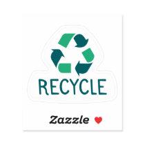 Recycle Custom Shape Sticker