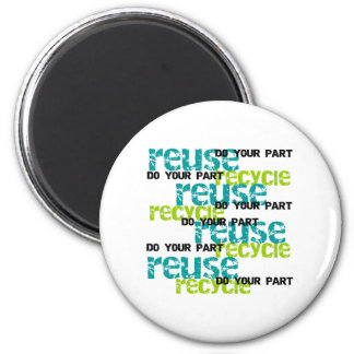 Recycle Do Your Part 2 Inch Round Magnet
