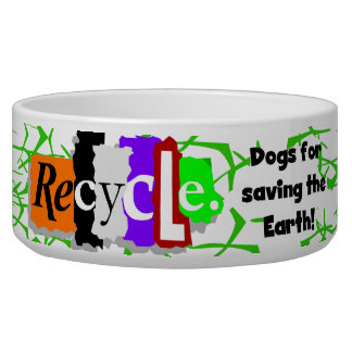 Recycle Dogs Pet Dish