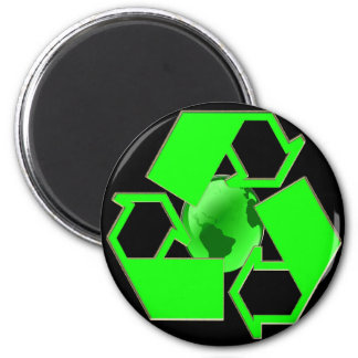 Recycle Earth 2- Save the Earth- Go Green 2 Inch Round Magnet