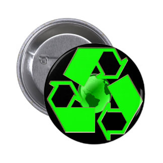 Recycle Earth 2- Save the Earth- Go Green Button