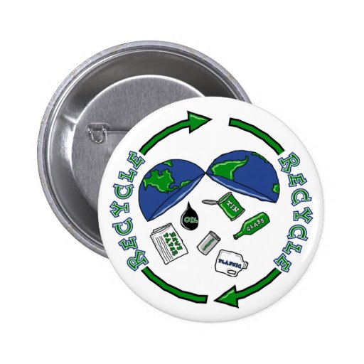 Recycle Earth button