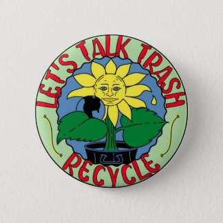 Recycle Earth Day Button