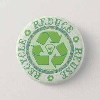 Recycle Earth Day Gear Button
