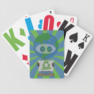 Recycle Earth Day Guy Bicycle® Playing Cards