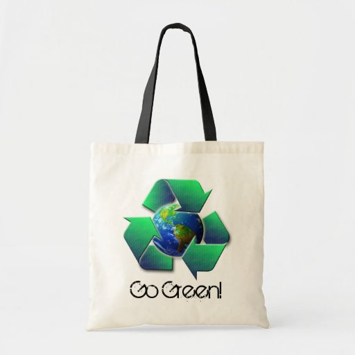 Recycle Earth, Go Green! - tote Budget Tote Bag