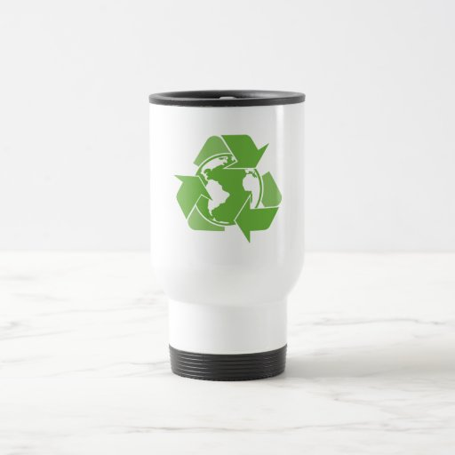 Recycle Earth Green 15 Oz Stainless Steel Travel Mug