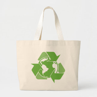 Recycle Earth Green Large Tote Bag