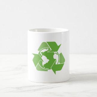 Recycle Earth Green Coffee Mugs