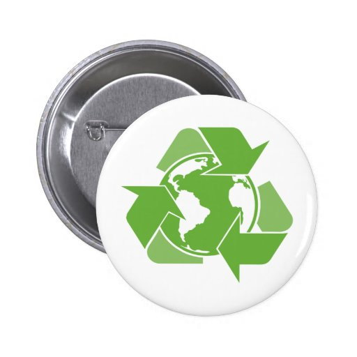 Recycle Earth Green Pin