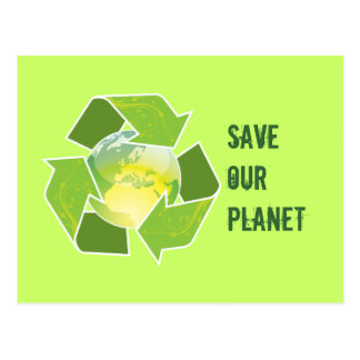 Recycle Earth Greeting Card & Postcard