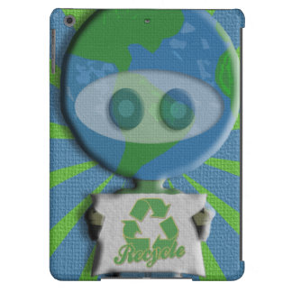Recycle Earth Guy iPad Air Cover