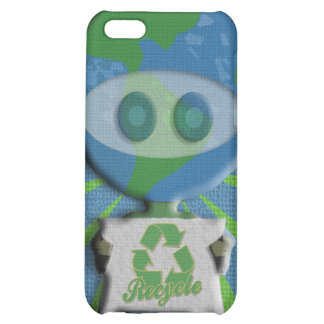 Recycle Earth Guy  Case For iPhone 5C