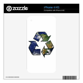 Recycle Earth iPhone 4 Skin