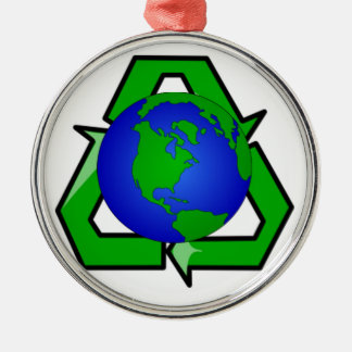 recycle earth metal ornament