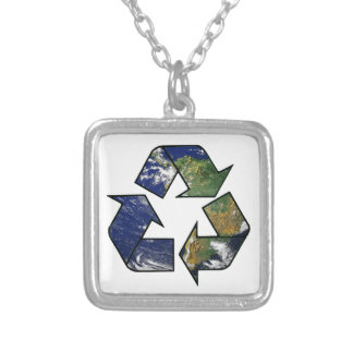 Recycle Earth Personalized Necklace
