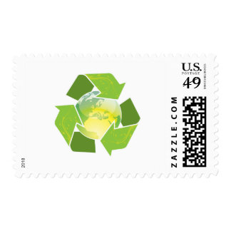 Recycle Earth Stamp