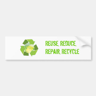 Recycle Earth Sticker Bumper Sticker