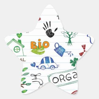 Recycle Eco Friendly Star Sticker