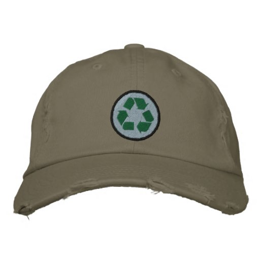 Recycle Embroidered Baseball Hat