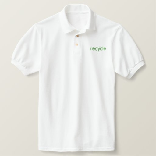 recycle embroidered polo shirt
