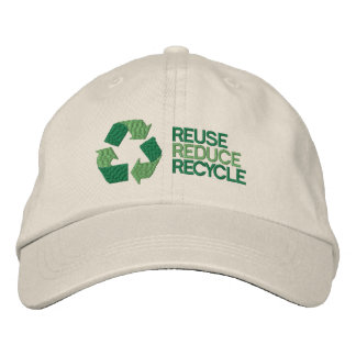 Recycle Environment Awareness Embroidered Baseball Cap