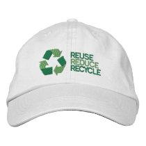 Recycle Environment Awareness Embroidered Baseball Cap