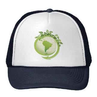 Recycle environmental concerned trucker hat