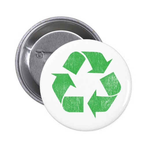 Recycle - Environmental Pinback Buttons