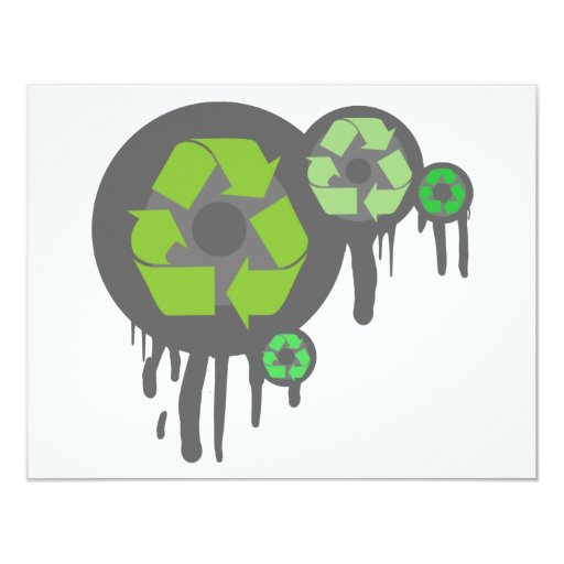 """Recycle exclusive products! 4.25"""" x 5.5"""" invitation card"""