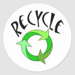 Recycle exclusive products! round stickers
