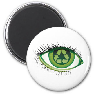 Recycle Eye Magnet