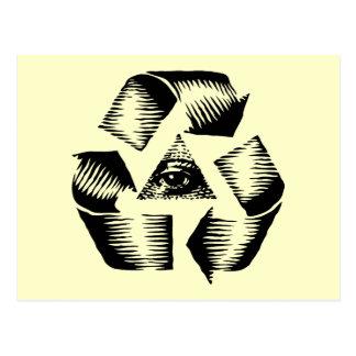 Recycle Eye Postcard
