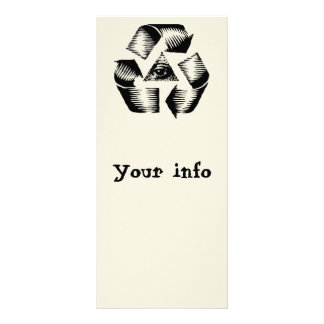 Recycle Eye Rack Card