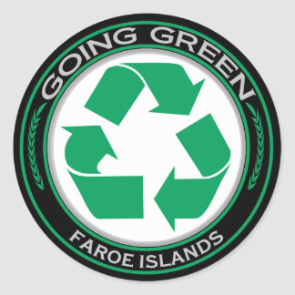 Recycle Faroe Islands Classic Round Sticker