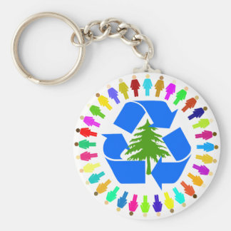 recycle for the trees keychain