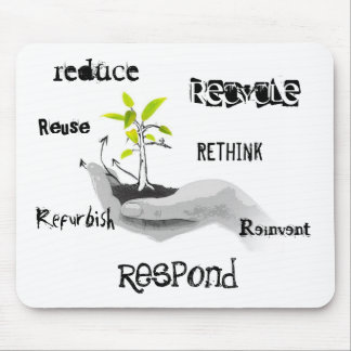Recycle friendly mouse pad