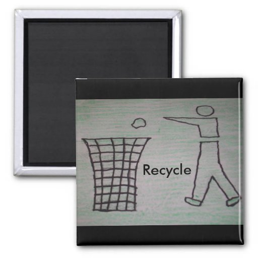 recycle frige magnet