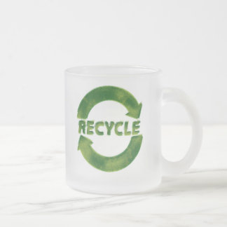 Recycle Frosted Glass Coffee Mug