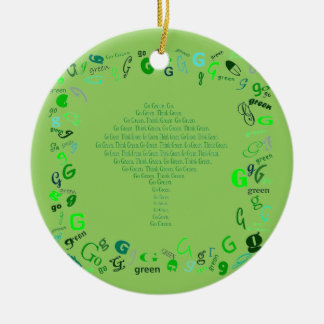 recycle go green Christmas Ceramic Ornament