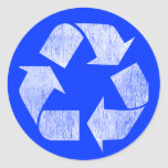 Recycle - Go Green Round Stickers